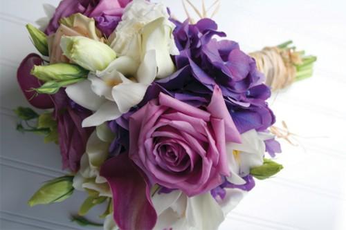 Purple White And Green Wedding Bouquets: Blue green orange purple ...