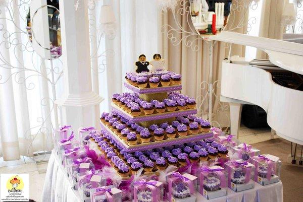 Wedding Cakes Pictures Purple Wedding Cupcakes