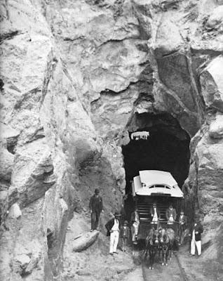 Primeiro túnel de Copacabana em 1892