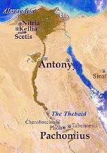 Nitria, Kellia, Scetis, Pispir, Tebas y Sinaí: lugares de los primeros Monasterios y Ermitas.