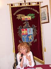 Cinzia Demi nella sede della Provincia Regionale di Palermo