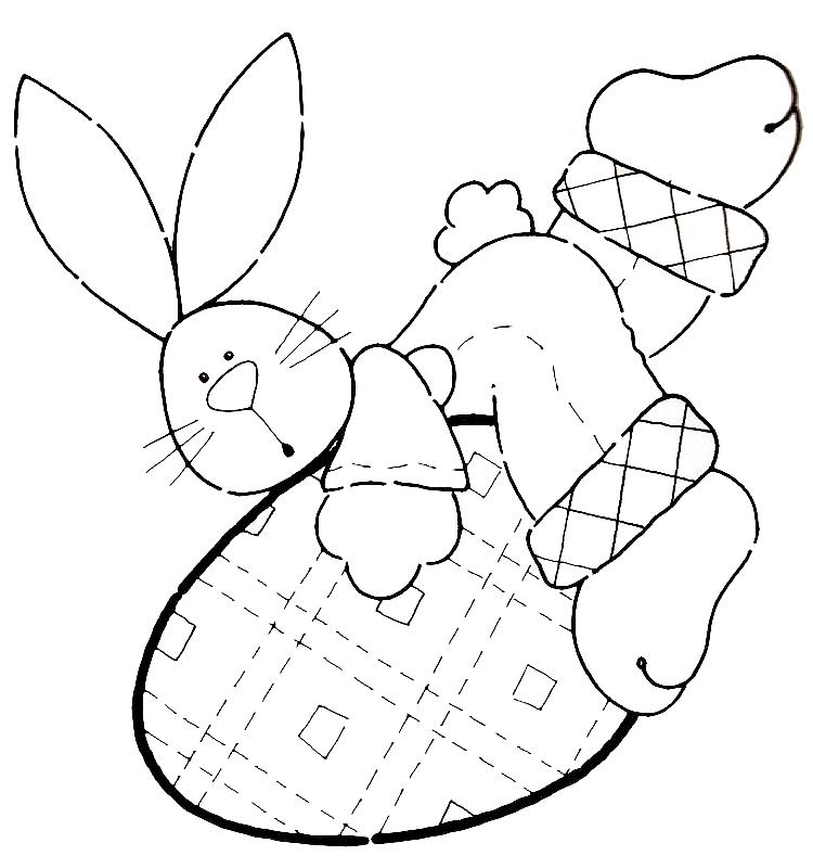 coelho para colorir. coelhos - para colorir