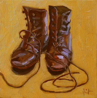 Shoes with laces by Liza Hirst