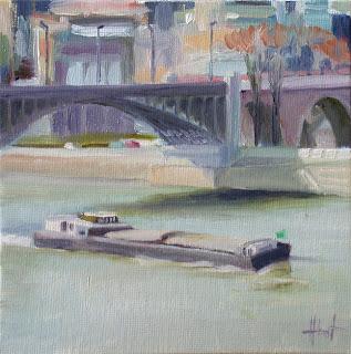 Bridge over the Seine 2 by Liza Hirst