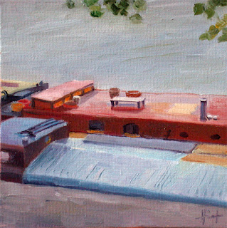 Houseboats on the Seine by Liza Hirst