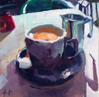 Morning Cafe au Lait by Liza Hirst