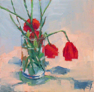 Poppies in a Vase by Liza Hirst