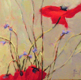 Four Poppies by Liza Hirst