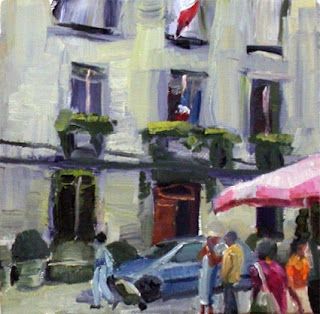 Market Perigueux by Liza Hirst