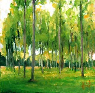 Poplars by Liza Hirst