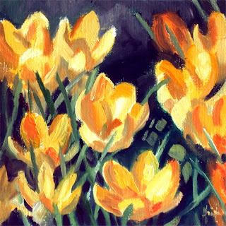 Crocuses by Liza Hirst