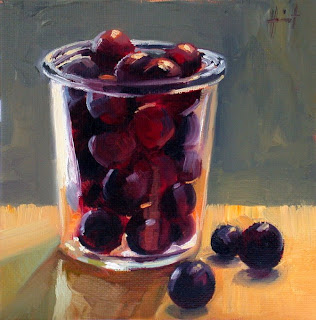 Dark Purple Plums by Liza Hirst