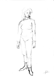 Vittoria, standing by Liza Hirst