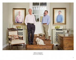 Paul and Antony painted by Liza Hirst, photographed by Rip Hopkins