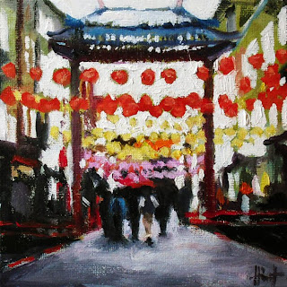 Entrance to Chinatown by Liza Hirst