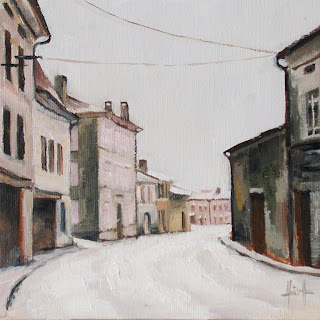 Snow in Verteillac by Liza Hirst