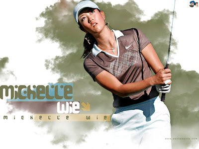 Golf Fashion Michelle  Pictures on Wallpapers And Pictures  Michelle Wie Hot Top Golf Player Wallpapers