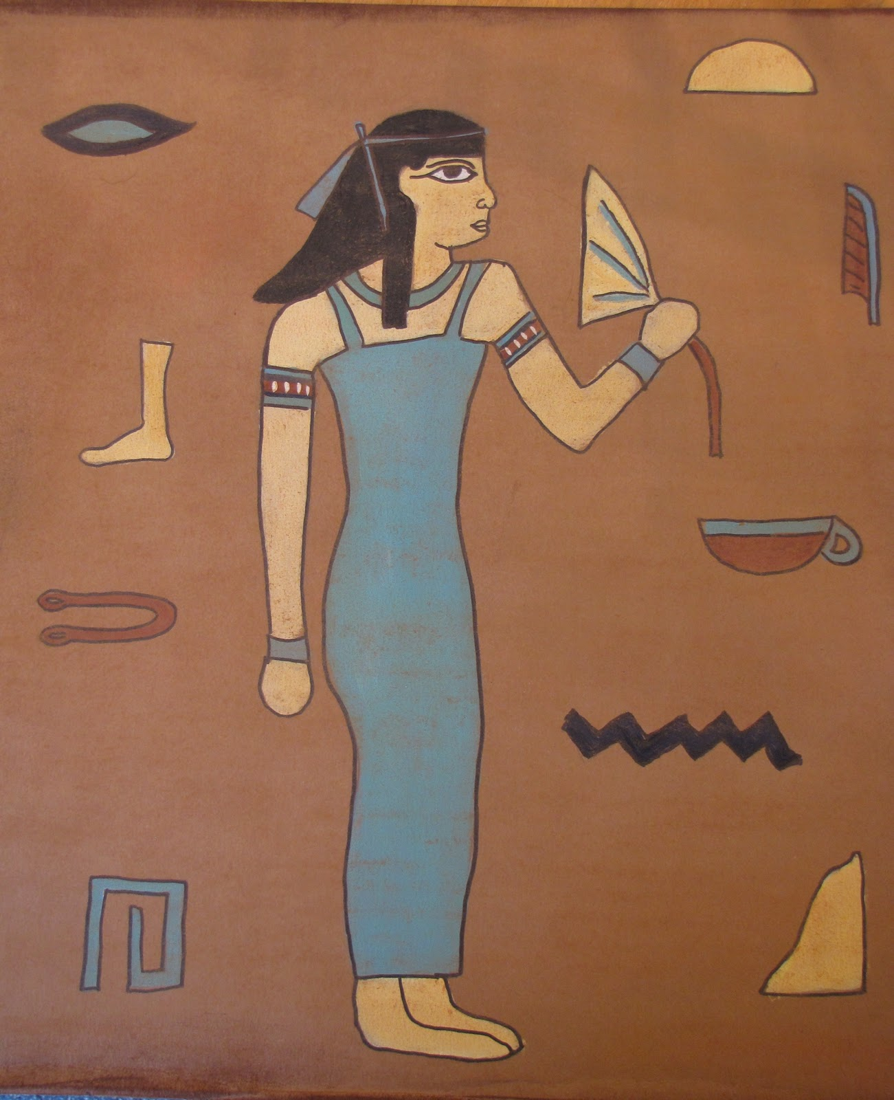 Egyptian Lady Drawing i Had Them Use a Dark Brown