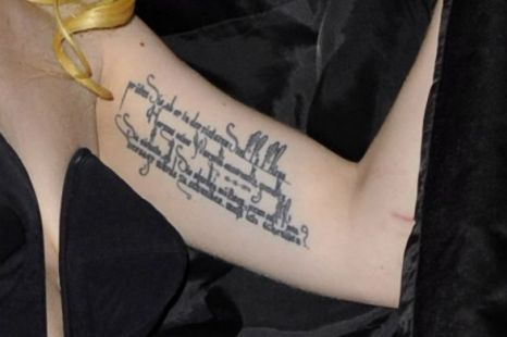 Label: Lady Gaga Tattoo Stylish | author: designs. Lady Gaga Tattoo Stylish.