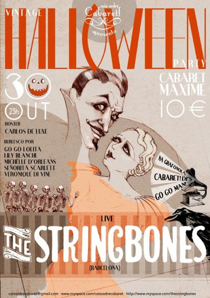 The Stringbones e Cais Sodre Cabaret no Maxime