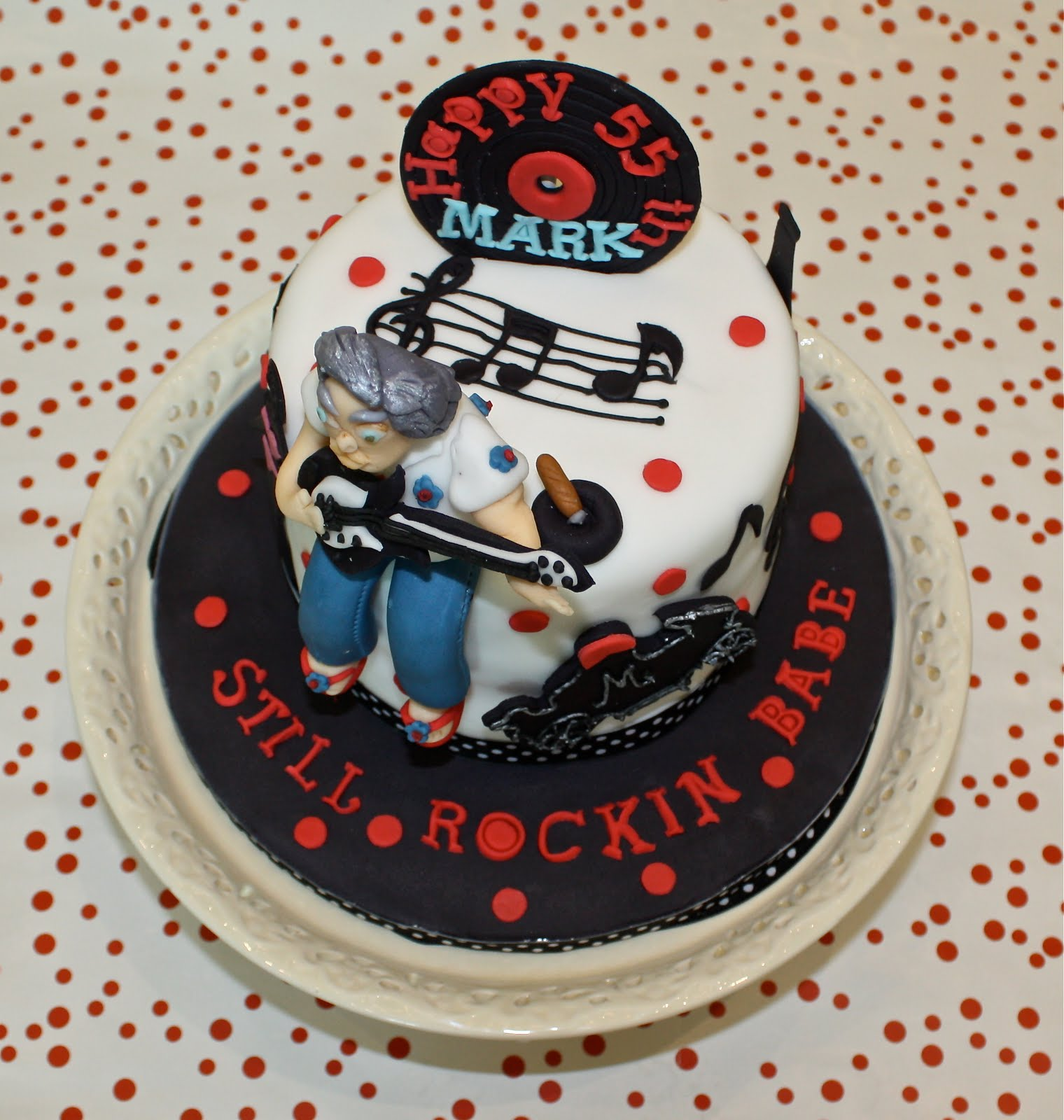 Rock N Roll Cake For My Hubby