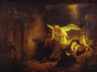 """The Dream of St. Joseph"" - Rembrandt"