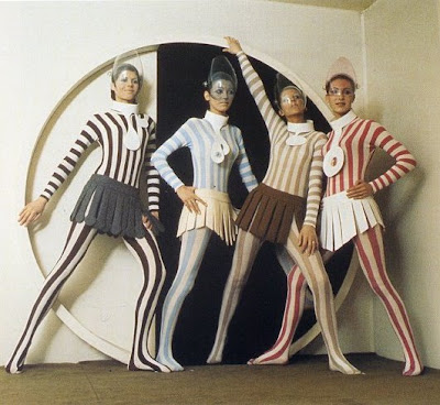 Mod Space Age Futuristic Fashion by Pierre Cardin late 1960's and early