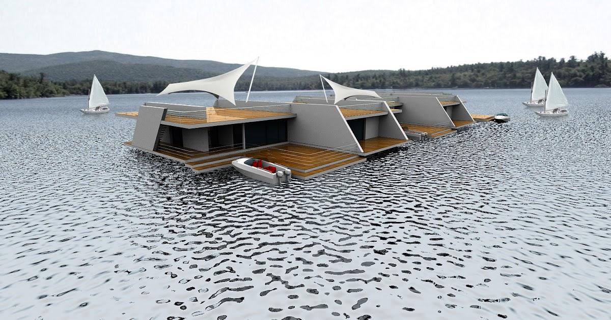 floating homes modern design by. Black Bedroom Furniture Sets. Home Design Ideas