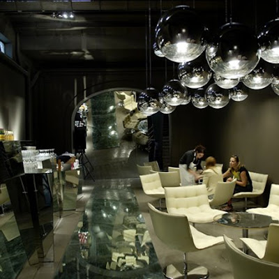 Tom dixon mirror ball lights modern design by moderndesign tom dixon mirror ball modern lights these super beautiful pendant lights were designed by british designer tom dixon the diesel store in new york features aloadofball Choice Image