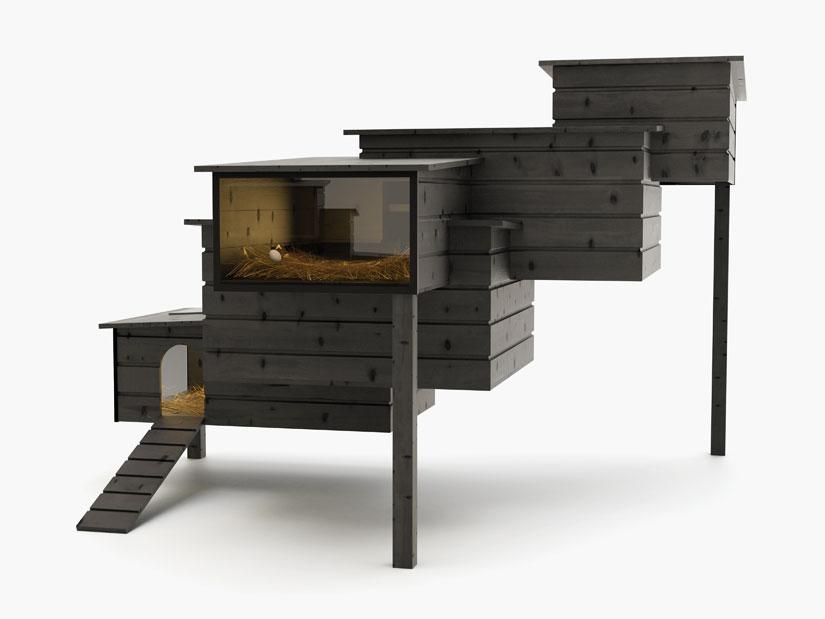 Architectural chicken coop modern design by for Modern chicken coop
