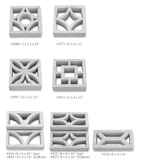 Architectural Screen Blocks : Mid century decorative concrete screen block modern