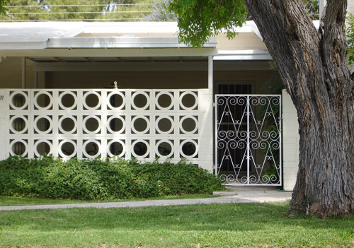 Decorative Cement Blocks : Mid century decorative concrete screen block modern