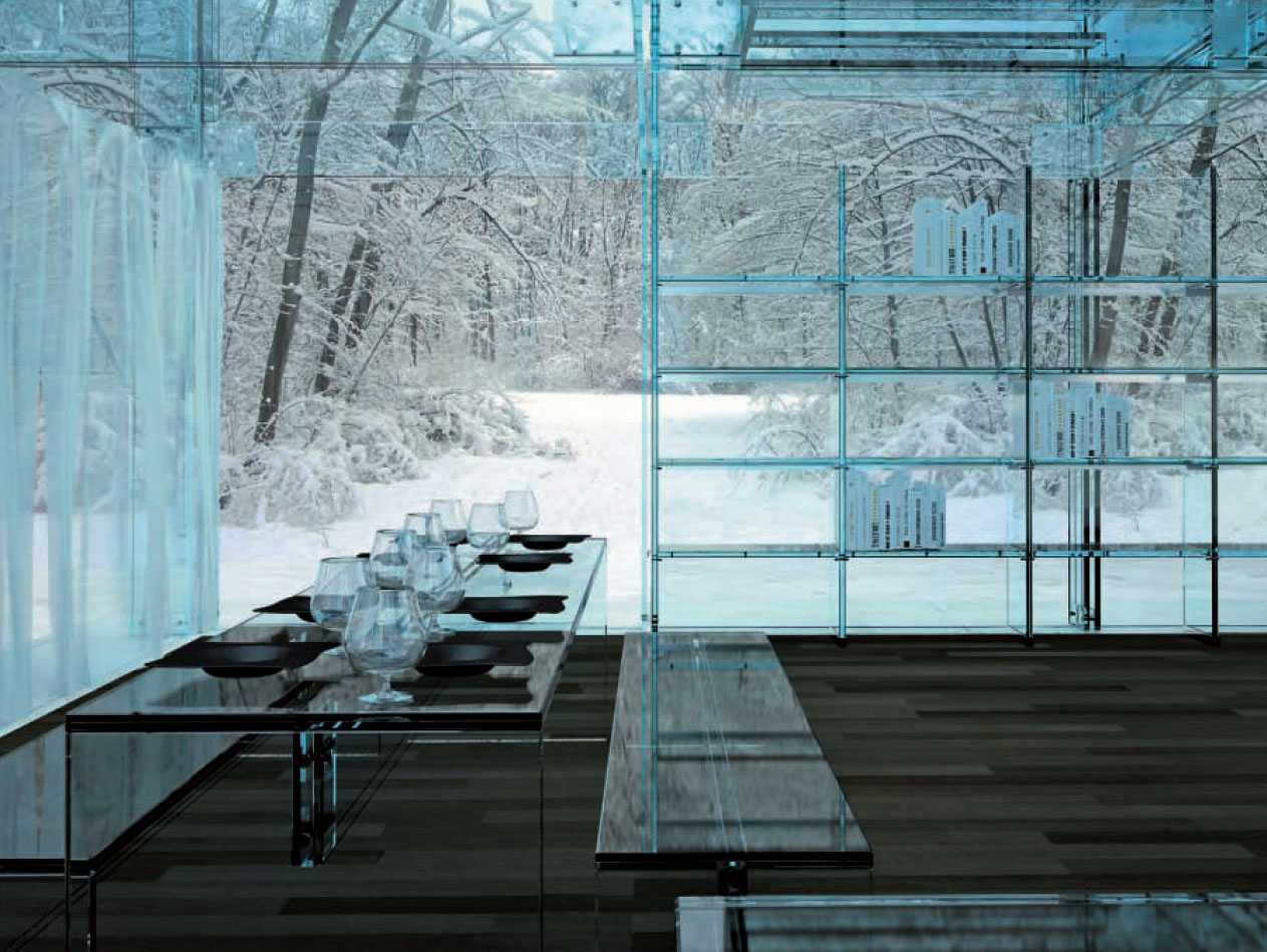 Ultra minimal glass house modern design by for All about interior design
