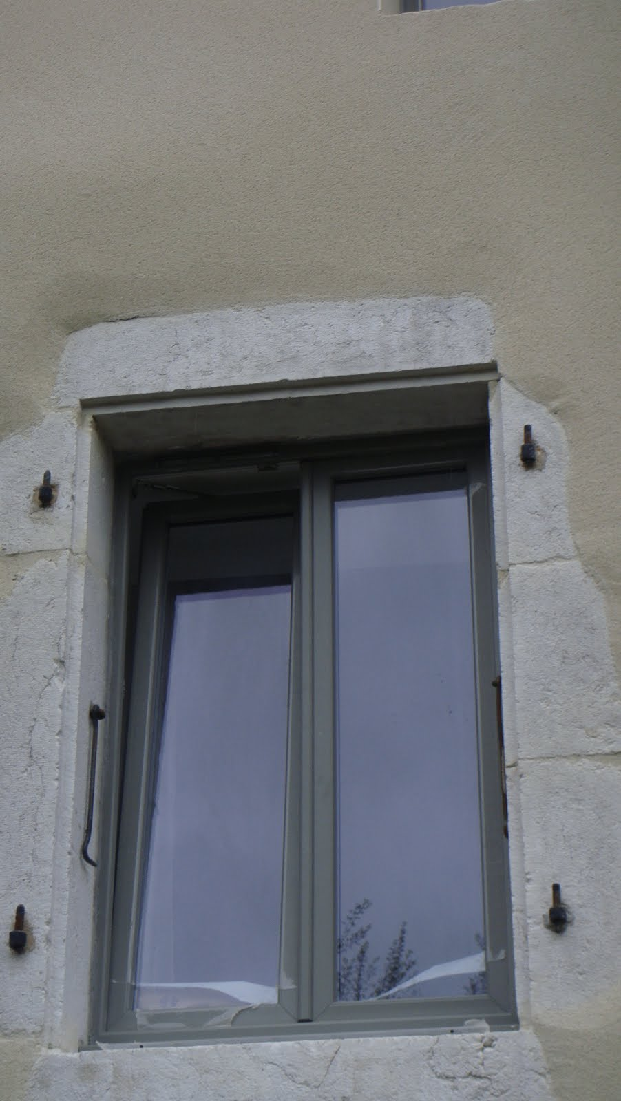 arenov menuiserie renovatin depose totale pvc laqu exterieure gris. Black Bedroom Furniture Sets. Home Design Ideas