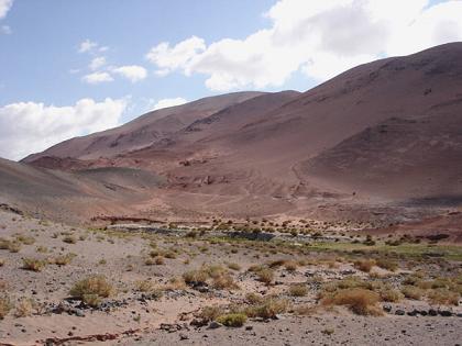 El paraje Los Colorados,a pocos kilometros de Antofagasta de la Sierra