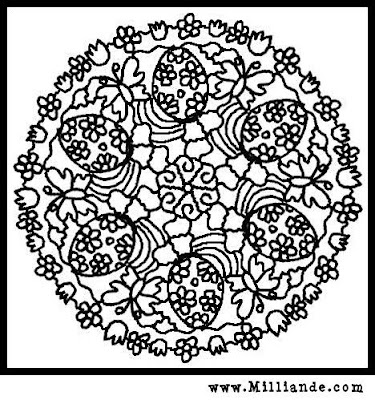 mandala easter coloring pages