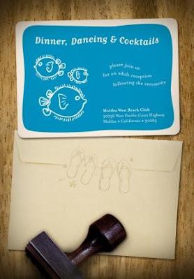 oceanic wedding invitations design