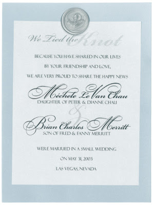 certified wedding invitations cards
