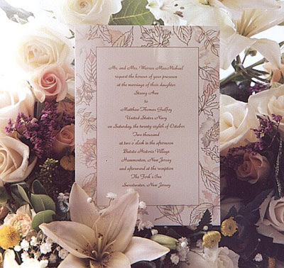 For the home wedding invitations are engraved as for the church wedding