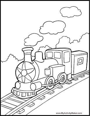 Funny Train Coloring Pages