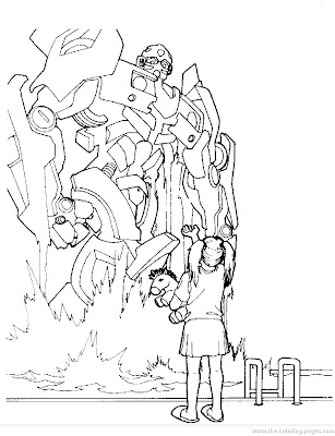 Bumblebee Transformer Coloring Pages Bumblebee appears from the swimming