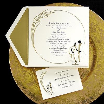 Silhouette Bridegroom Wedding Invitations