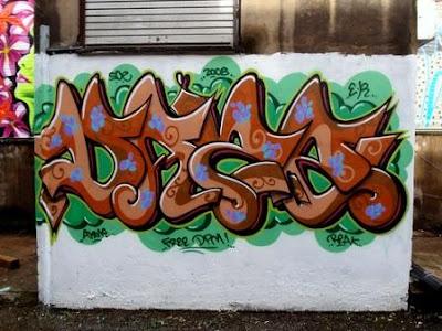 3D Graffiti Alphabet Wild Bubble Sigmoid Style
