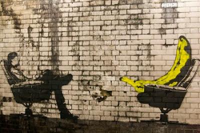 banana therapy graffiti stencil