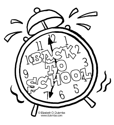 School-coloring-clock