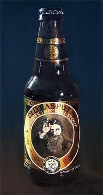 old rasputin bottle art