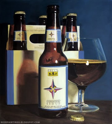 Bells Expedition Stout oil painting beer art