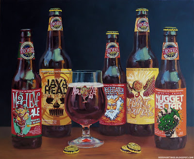 Troegs Brewery beer painting