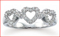 Triple Heart Ring