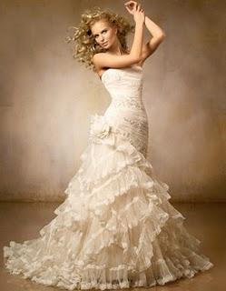 Vestido de novia color champagne 3
